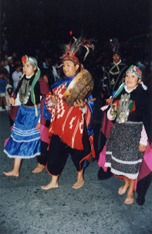procession in costume